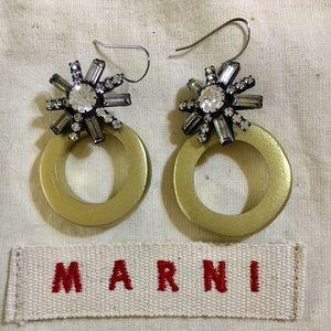 Marni Statement Earring w Vintage Jewels